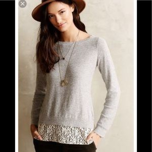 Angel of the North Lace-Parted pullover medium